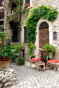 Small square between the houses of Assergi - Abruzzo - Italy